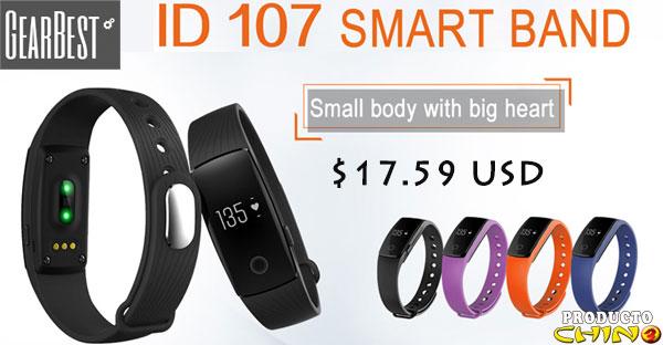 ID107 smartwatch con monitor de ritmo cardiaco