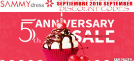 Códigos Descuento SammyDress Septiembre 2016