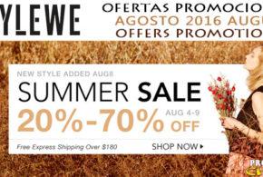 Ofertas Promociones Stylewe Agosto 2016