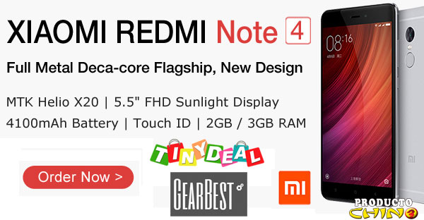 Xiaomi Redmi Note 4 Comprarlo Tinydeal Gearbest