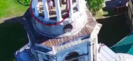 Un drone captó a una pareja teniendo sexo en la torre de una iglesia