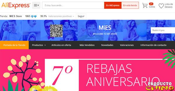 MiES Store la tienda de Xiaomi en Aliexpress Almacén España