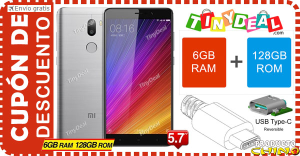 Cupón Descuento para Xiaomi Mi5s Plus 6GB RAM Tinydeal