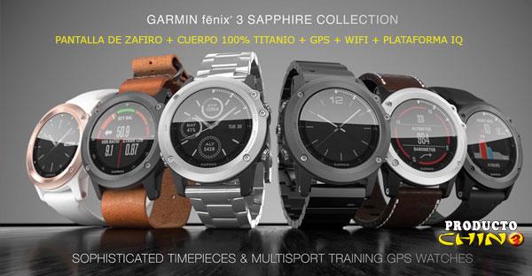 Reloj Inteligente de titanio Garmin FENIX 3 Sapphire