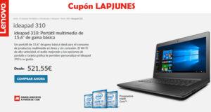 Solo 521,55€ para portátil ideapad 310 de Lenovo