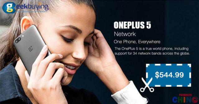 OnePlus 5 Cupón Descuento Verificado Geekbuying