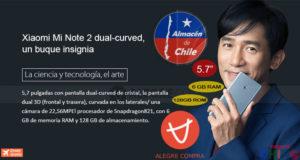 Xiaomi Mi Note 2 6GB RAM Alegrecompra Chile