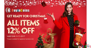 Buyincoins 12% de descuento para todos los artículos! ¡Ven y consíguelo ahora!