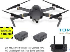Solo $1,169.99 para Drone DJI Mavic Pro en Tomtop