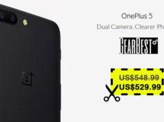 Solo $529.99 para OnePlus 5 Cupón Descuento Gearbest