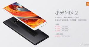 Xiaomi Mi Mix 2 versión cerámica blanco disponible muy pronto