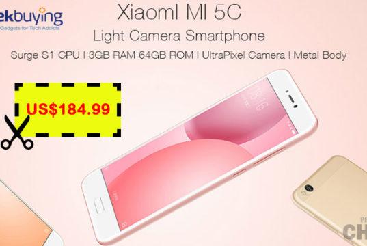 $37 Descuento para Xiaomi Mi5c 3GB RAM Geekbuying