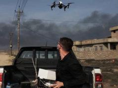 Usando drones en zonas de guerra