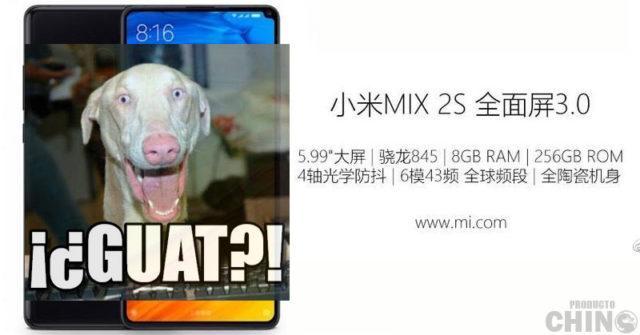 Nuevos filtros para el Xiaomi Mi Mix 2S confirman Qualcomm Snapdragon 845