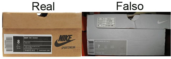 estrecho Brutal declaración  Zapatos deportivos Nike reales y falsos, como identificarlos al comprar en  linea